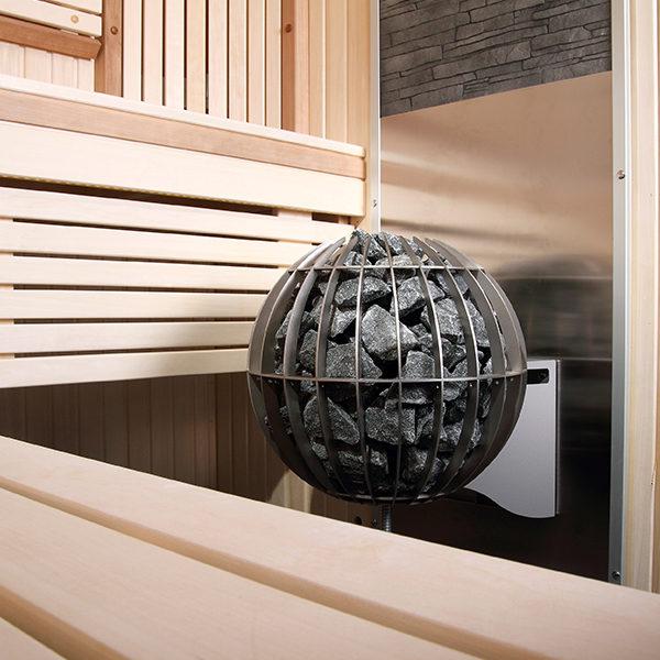SAUNAOFEN  Globe Elektro innen