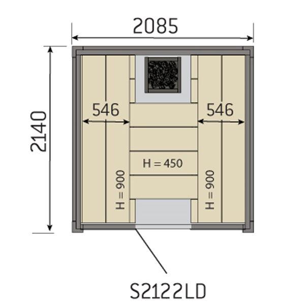 SAUNA  Solide 2122LD